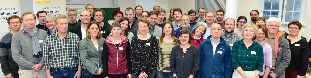 Teilnehmer*innen des Jahrestreffens der Partnerbetriebe (Foto: Wessolek 2016)